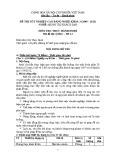 Đề thi thực hành Quản trị khách sạn năm 2012 (Mã đề TH13)