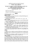 Đề thi & đáp án lý thuyết Quản trị cơ sở dữ liệu năm 2011 (Mã đề LT50)