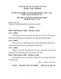 Đề thi & đáp án lý thuyết Quản trị khách sạn năm 2012 (Mã đề LT16)