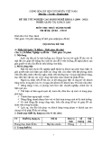 Đề thi thực hành Quản trị khách sạn năm 2012 (Mã đề TH3)