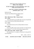 Đề thi & đáp án lý thuyết Quản trị khách sạn năm 2012 (Mã đề LT8)