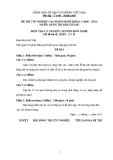 Đề thi & đáp án lý thuyết Quản trị khách sạn năm 2012 (Mã đề LT19)