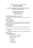 Đề thi thực hành Kỹ thuật xây dựng năm 2012 (Mã đề TH3)