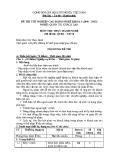 Đề thi thực hành Quản trị khách sạn năm 2012 (Mã đề TH50)