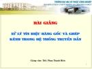 Bài giảng Xử lý tín hiệu băng gốc và ghép kênh trong hệ thống truyền dẫn - Th.S Phan Văn Hiền
