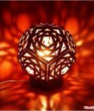 Tận dụng giấy các-tông làm đèn bàn ấn tượng