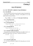 Bài giảng Kỹ thuật số - Chương 2: Đại số Boole