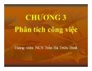 Bài giảng Phân tích công việc - GV. Trần Hà Triêu Bình