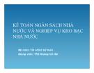 Bài giảng Kế toán ngân sách nhà nước và nghiệp vụ kho bạc nhà nước - ThS. Hoàng Vũ Hải