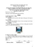 Đề thi & đáp án lý thuyết Kỹ thuật sửa chữa máy tính năm 2012 (Mã đề LT9)