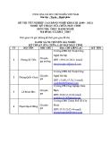 Đề thi thực hành Kỹ thuật sửa chữa máy tính năm 2012 (Mã đề TH5)