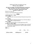Đề thi & đáp án lý thuyết Kỹ thuật sửa chữa máy tính năm 2012 (Mã đề LT10)