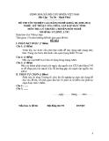 Đề thi & đáp án lý thuyết Kỹ thuật sửa chữa máy tính năm 2012 (Mã đề LT2)