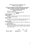 Đề thi & đáp án lý thuyết Kỹ thuật sửa chữa máy tính năm 2012 (Mã đề LT13)
