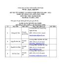 Đề thi thực hành Kỹ thuật sửa chữa máy tính năm 2012 (Mã đề TH16)