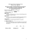 Đề thi & đáp án lý thuyết Kỹ thuật sửa chữa máy tính năm 2012 (Mã đề LT14)