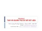 Bài giảng Cơ sở dữ liệu: Chương 2 - ThS. Lương Thị Ngọc Khánh