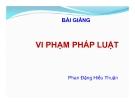 Bài giảng Vi phạm pháp luật - Phan Đặng Hiếu Thuận