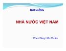 Bài giảng Nhà nước Việt Nam - Phan Đặng Hiếu Thuận