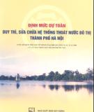 Hệ thống thoát nước đô thị Thành phố Hà Nội - Định mức dự toán duy trì, sửa chữa: Phần 2