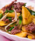 Cách làm món thịt bò xào khoai tây