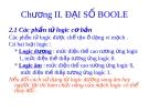 Bài giảng Kỹ thuật số và vi xử lý: Chương 2 - ĐH Bách Khoa