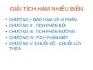 Bài giảng Giải tích 2: Chương 1.1 - Nguyễn Thị Xuân Anh