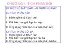 Bài giảng Giải tích 2: Chương 2.0 - Nguyễn Thị Xuân Anh