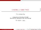Bài giảng Đại số tuyến tính: Chương 2 - Lê Xuân Đại