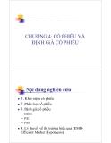 Bài giảng Thị trường chứng khoán: Chương 4 - Ths. Nguyễn Thị Ngọc Lan