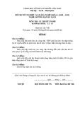 Đề thi & đáp án lý thuyết Hướng dẫn du lịch năm 2012 (Mã đề LT3)