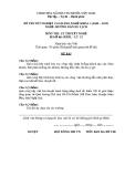Đề thi & đáp án lý thuyết Hướng dẫn du lịch năm 2012 (Mã đề LT15)
