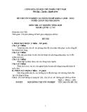 Đề thi & đáp án lý thuyết Quản trị nhà hàng năm 2012 (Mã đề LT5)