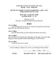 Đề thi & đáp án lý thuyết Hướng dẫn du lịch năm 2012 (Mã đề LT9)