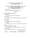 Đề thi & đáp án lý thuyết Quản trị nhà hàng năm 2012 (Mã đề LT46)