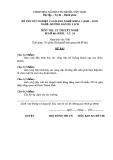 Đề thi & đáp án lý thuyết Hướng dẫn du lịch năm 2012 (Mã đề LT16)