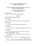 Đề thi & đáp án lý thuyết Quản trị nhà hàng năm 2012 (Mã đề LT12)