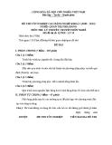 Đề thi & đáp án lý thuyết Quản trị nhà hàng năm 2012 (Mã đề LT50)