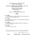 Đề thi & đáp án lý thuyết Hướng dẫn du lịch năm 2012 (Mã đề LT2)