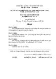 Đề thi & đáp án lý thuyết Hướng dẫn du lịch năm 2012 (Mã đề LT10)
