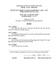 Đề thi & đáp án lý thuyết Hướng dẫn du lịch năm 2012 (Mã đề LT23)