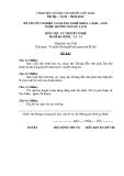 Đề thi & đáp án lý thuyết Hướng dẫn du lịch năm 2012 (Mã đề LT13)