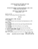 Đề thi & đáp án lý thuyết Quản trị nhà hàng năm 2012 (Mã đề LT7)