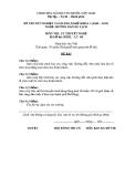 Đề thi & đáp án lý thuyết Hướng dẫn du lịch năm 2012 (Mã đề LT8)