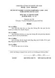 Đề thi & đáp án lý thuyết Hướng dẫn du lịch năm 2012 (Mã đề LT5)