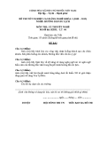 Đề thi & đáp án lý thuyết Hướng dẫn du lịch năm 2012 (Mã đề LT6)