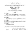 Đề thi & đáp án lý thuyết Hướng dẫn du lịch năm 2012 (Mã đề LT11)