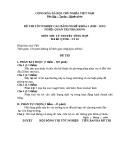 Đề thi & đáp án lý thuyết Quản trị nhà hàng năm 2012 (Mã đề LT10)