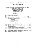 Đề thi thực hành Quản trị nhà hàng năm 2012 (Mã đề TH8)