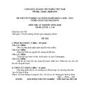 Đề thi & đáp án lý thuyết Quản trị nhà hàng năm 2012 (Mã đề LT6)
